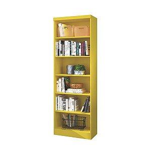 Estante para Livros 5 Prateleiras Linus Amarelo Qmovi