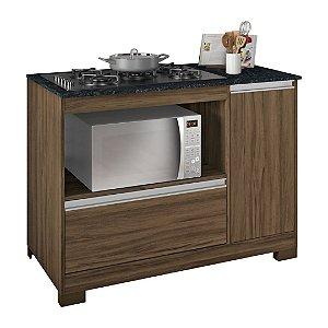 Balcão para fogão cooktop 5 bocas NT3050 Nogal Notável