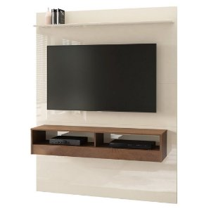 Painel para TV até 50 Polegadas Torino Off White Naturale EDN