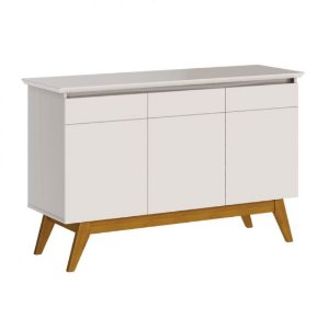 Buffet 3 Portas Classic Off White Imcal