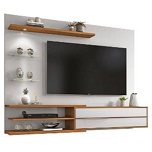 Painel com Led para TV Até 60 Polegadas 1 Porta NT1115 Off White Freijo Notável Móveis