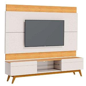 Rack com Painel para TV até 60 Polegadas Classic 2G 1.8 Off White Nature Imcal