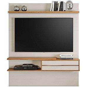 Painel para TV 55 Polegadas 1,35m NT1155 Off White / Freijó Notável Móveis