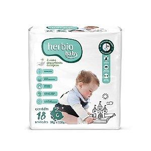 Fralda Ecológica Descartável G Herbia Baby pacote c/ 18 unid.