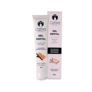 Gel Dental Laranja Com Canela 80g