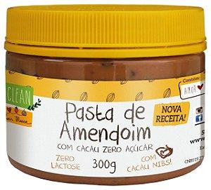 Pasta de Amendoim Crocante Cacau Nibs Eat Clean Pote 300g