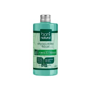Enxaguante Bucal Sem Flúor Natural Menta e Melaleuca  Boni Natural - 500ml