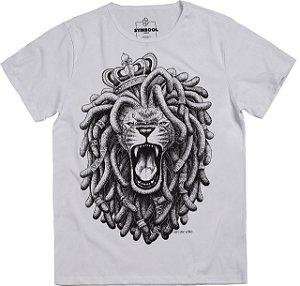 T-thirt rasta lion branco