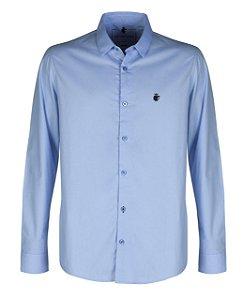 Camisa basis azul claro