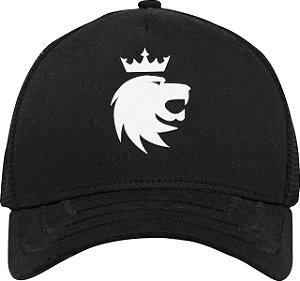Boné lion 3d preto