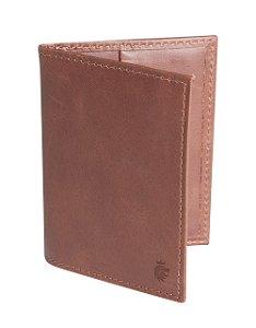 Porta cartão volke leer marrom