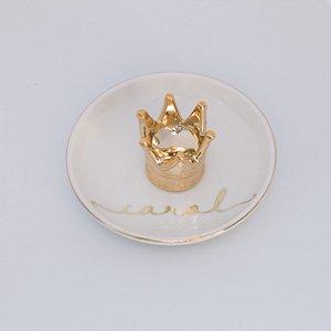 Porta Joias Coroa Dourado