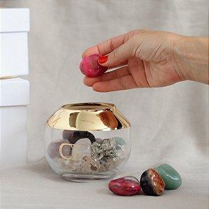 Bowl de Cristais na Caixa Personalizada