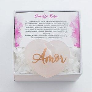 Coração de Cristal na Caixa Personalizada