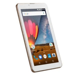 Tablet 7' Multilaser M7-3G Plus BR/Dourado NB272 - Android 7.0, 2 Chips, Q.core, 1Gb Ram, Mem 8Gb