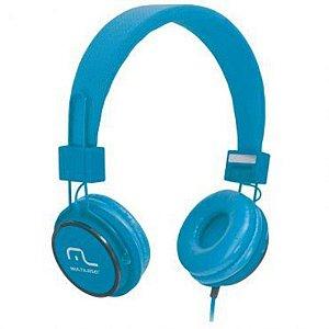 Fone De Ouvido Multilaser Ph089 Fun Headphone Azul