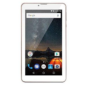 Tablet Multilaser M7s Plus Quad Core Câmera Wi-Fi 1 Gb De Ram Tela 7 Pol. Memória 8gb Dual Chip Rosa - Nb275