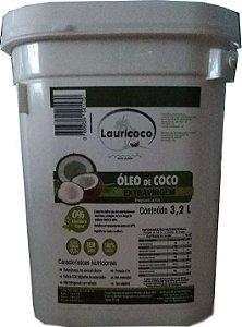 Óleo De Coco 100% Extra Virgem Balde De 3,2 Litros Lauricoco