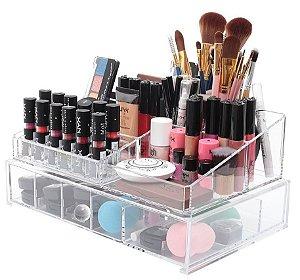 Porta Maquiagem Com Gaveta e Divisórias de Acrilico Organizador 2