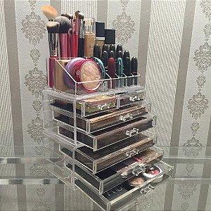 Porta Maquiagem Gaveteiro em Acrilico Organizador 81