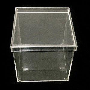 Organizador 88 - Caixa Cubo de Acrilico Com Tampa