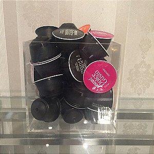 Caixa de Acrilico para Capsulas de Café Organizador 88 - Sem tampa