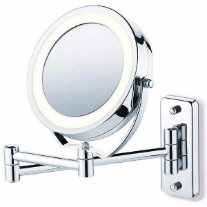 Espelho de Parede e Mesa com Luz de Led