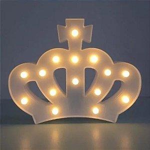 Enfeite Luminária de Led Coroa