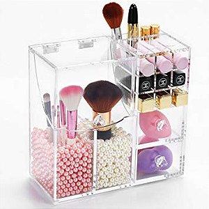 Porta Maquiagem Pinceis em Acrilico Organizador 146