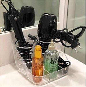 Porta secador, chapinha, acessórios de cabelo, pinceis de acrilico Organizador 199