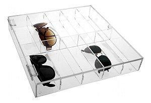 Porta 10 Óculos com tampa em Acrilico