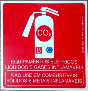 PLACA INDICATIVA DE EXTINTOR CO2