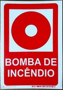 PLACA INDICATIVA DE BOTOEIRA DE BOMBA