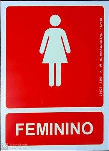PLACA INDICATIVA BANHEIRO FEMININO