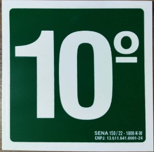 PLACA INDICATIVA DE 10° ANDAR