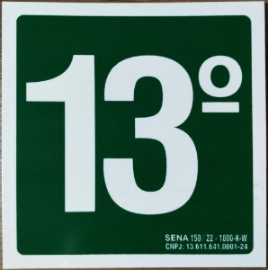 PLACA INDICATIVA DE 13° ANDAR