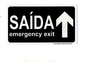 PLACA INDICATIVA - SAÍDA / EXIT A FRENTE