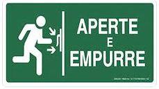PLACA INDICATIVA - PORTA CORTA FOGO APERTE E EMPURRE