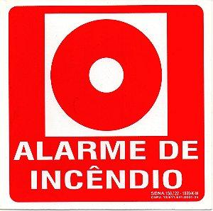 PLACA INDICATIVA - BOTOEIRA DE ALARME DE INCÊNDIO (GRANDE)