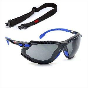 Óculos 3M Solus 1000 Scotchgard Fumê Com Haste e Elástico CA 39190