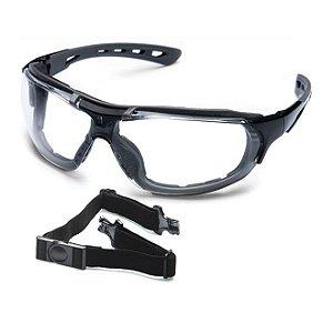 Óculos Steelflex Roma Incolor  Antiembaçante Haste e Elástico Removível