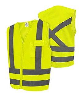 Colete Refletivo Amarelo Com 1 Bolso Super Safety