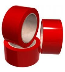 Fita De Demarcação Vermelho 48mm X 30mts - Plastcor