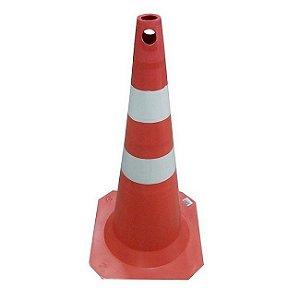 Cone De Sinalização 75cm Pvc Faixa Injetada Plastcor