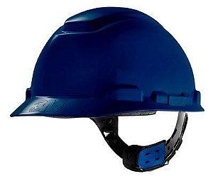 Capacete Seguranca 3m H-700 Azul Ajuste Facil