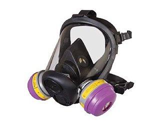 Máscara Facial Inteira Série 6500 Honeywell C/ Cartucho Multigases