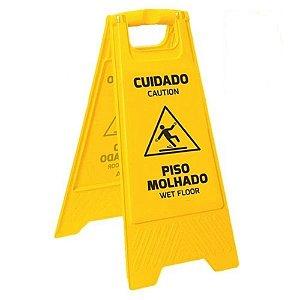 Cavalete Duplo Amarelo - Cuidado Piso Molhado