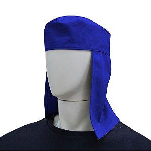 Touca Soldador Brim Azul - Com Elastico E Velcro
