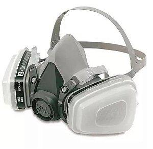 Respirador 3M 6200 Para Pintura e Aplicação de Defensivos Completa