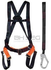 Cinturao Paraquedista Mult 2013 com Talabarte Conector 55mm Mult 1895A